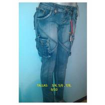 Blue Jean Strech Importado Excelente Calidad 100% Algodon
