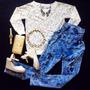 Pantalón De Jean Talle Alto A La Cintura Moda Americana
