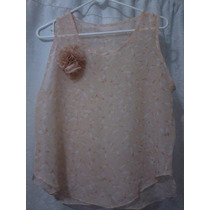 Camisa Blusa De Dama En Chifon Estampado T/u