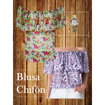 Blusas A La Moda De Dama Chifon,rayón,algodón,blonda,