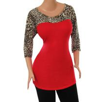 Blusa Dama Talla Plus Diseño Original A La Moda. Ref: 1807