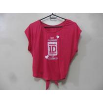 Blusa Camisa One Direction Artistas Online Talla: S M Fucsia