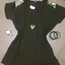 Bella Blusa Franela Camisa Charlotte Russe Original Remate.!