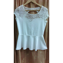 Blusa Blanca Marca Ambiance Talla M