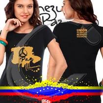 Franelas Paz Por Venezuela, Estampada Con Vinil Textil
