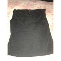 Blusa De Vestir Negra Cuello Bobo