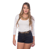 Sueter Blanco Mangas Largas Desgastadas Saints Clothes