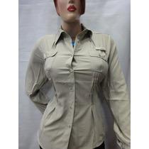 Blusa De Dama Tipo Camisa Marca Columbia T/plus Envió Gratis