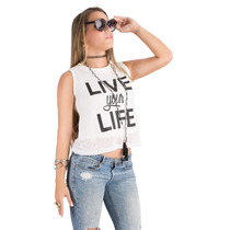 Franela Saints Clothes Live Your Life Detalle De Encajes
