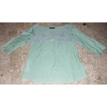 Blusa Camisa Con Tejido