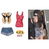 Blusa Camiseta Encaje Crochet Moda Selena Gomez