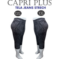 Capri , Tela Tipo Jeans, Talla Grande, Plus..xl-xxl-xxxl..!!