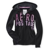 Sweter Aeropostale Original Negro Talla L