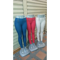 Pantalones Leggins Unicolores Casuales