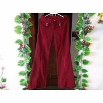 Pantalón Para Dama Ejecutivo Stres Color Vino