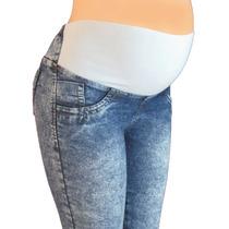 Pantalon Materno Jean Diseño Originale A La Moda Ref: 2606