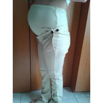 Pantalon Materno De Vestir Color Caqui