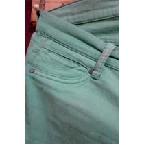 Pantalon Stretch Verde Talla Xl Bota Tubito