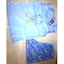Pijama De Dama Dormilona Conjunto Short Mas Blusa