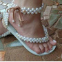 Sandalias Decoradas Con Pedrería Nuevas En Todas Las Tallas