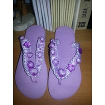 Sandalias Tipo Alohas Para Niña Decorada Marca Hawaianas