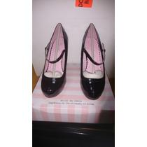 Zapatos De Tacon Y Plataforma 4 1/4 Sinteticos Talla 7