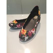 Sandalias Zapatillas Negras De Flores Bajitas P Damas Hellas