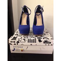 Zapato De Tacón Bamboo Azul