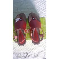 Sandalias Divertidas Color Rojo Talla 36 Nuevas Jean 25