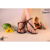 Sandalia De Cuero Artesanal