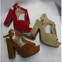 Sandalia De Plataforma Moda Colombiana