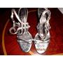 Sandalias Plateadas Con Negro Tulio #40 Bs2.500