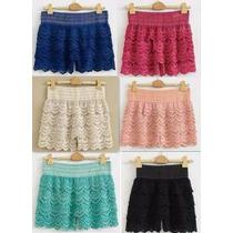 Shorts Falda De Encajes Varios Colores