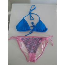 Traje De Baño Victorias Secret Top Talla S Panty Talla M