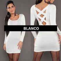 Blusa Bluson Mini Vestido Espalda Cruzada