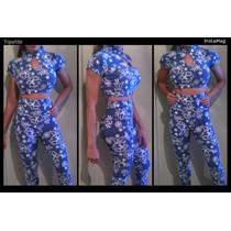 Pantalones De Dama Talle Alto Corte Leggins Y Blusa Crotop