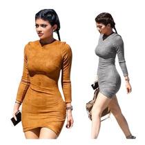 Vestidos Cortos Kylie Jenner Bodycon Casual Braga Moda Damas