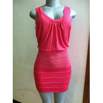 Vestido Tipo Cóctel Color Coral Talla S Da Excelente Forma