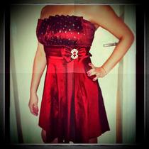Vestido De Fiesta Vinotinto