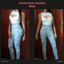 Conjunto Pantalón Talle Alto Y Crotop Con Sexy Escote
