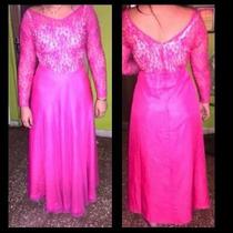 Vestido De Fiesta O Graduación Color Fucsia