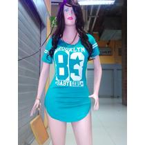 Vestidos Blusones Beisboleros Deportivos Para Dama Al Detal