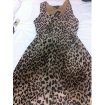 Vestido Tipo Cocktail Animal Print Importado