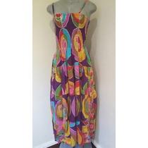 Precioso Vestido Hindú Original Talla U, Con Hilo Plateado