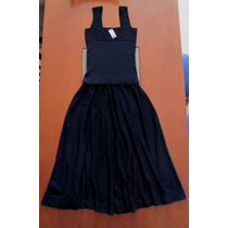 Vestido Conjunto Italiano Top Y Falda Larga Tejidos T M