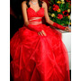 Vestido De 15cs (quinceaños) Rojo Con Dorado