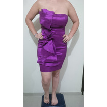 Vestido Tipo Cocktail Color Morado Talla M
