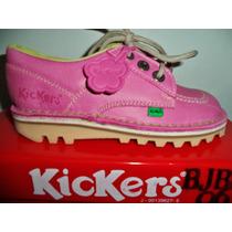 Zapato Kickers En Cuero Talla 37 Color Fucsia Unisex No Mrw