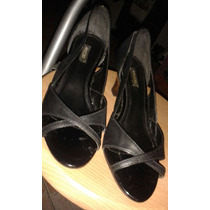 Zapatos Dama Arezzo Negros Talla 36 (1 Sola Postura)