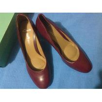 Zapatos Clarks De Dama De Color Morado Tacón Marrón Talla 41